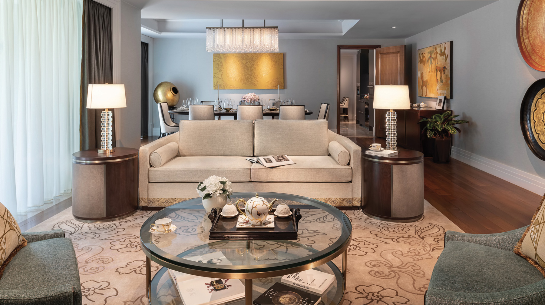 The Peninsula Residences Yangon Interior Dining and Living Room