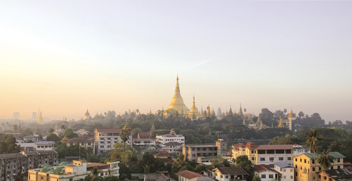 Yangon's Shwedagon Pagoda View