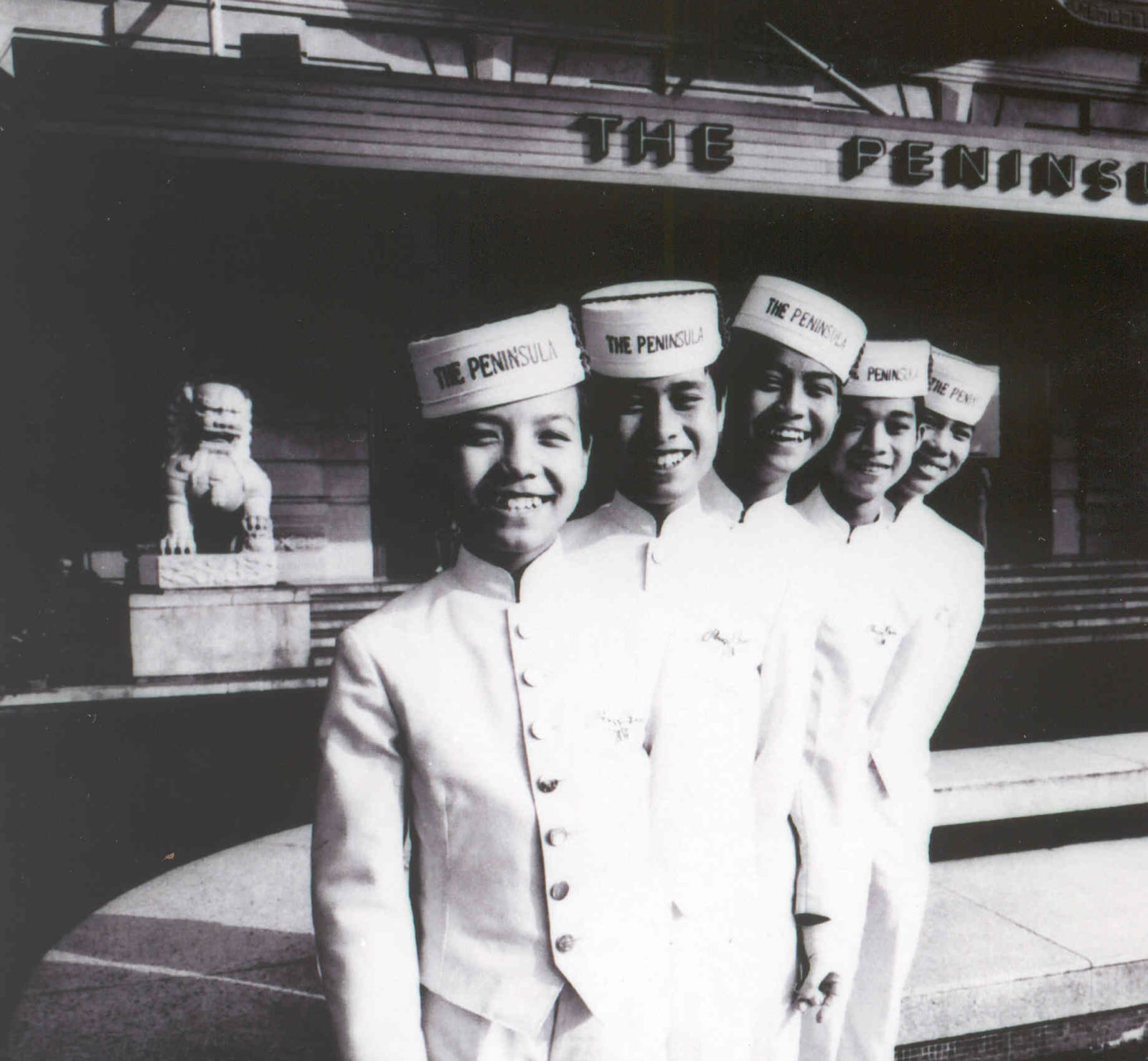 1950s Pageboys representing The Peninsula brand