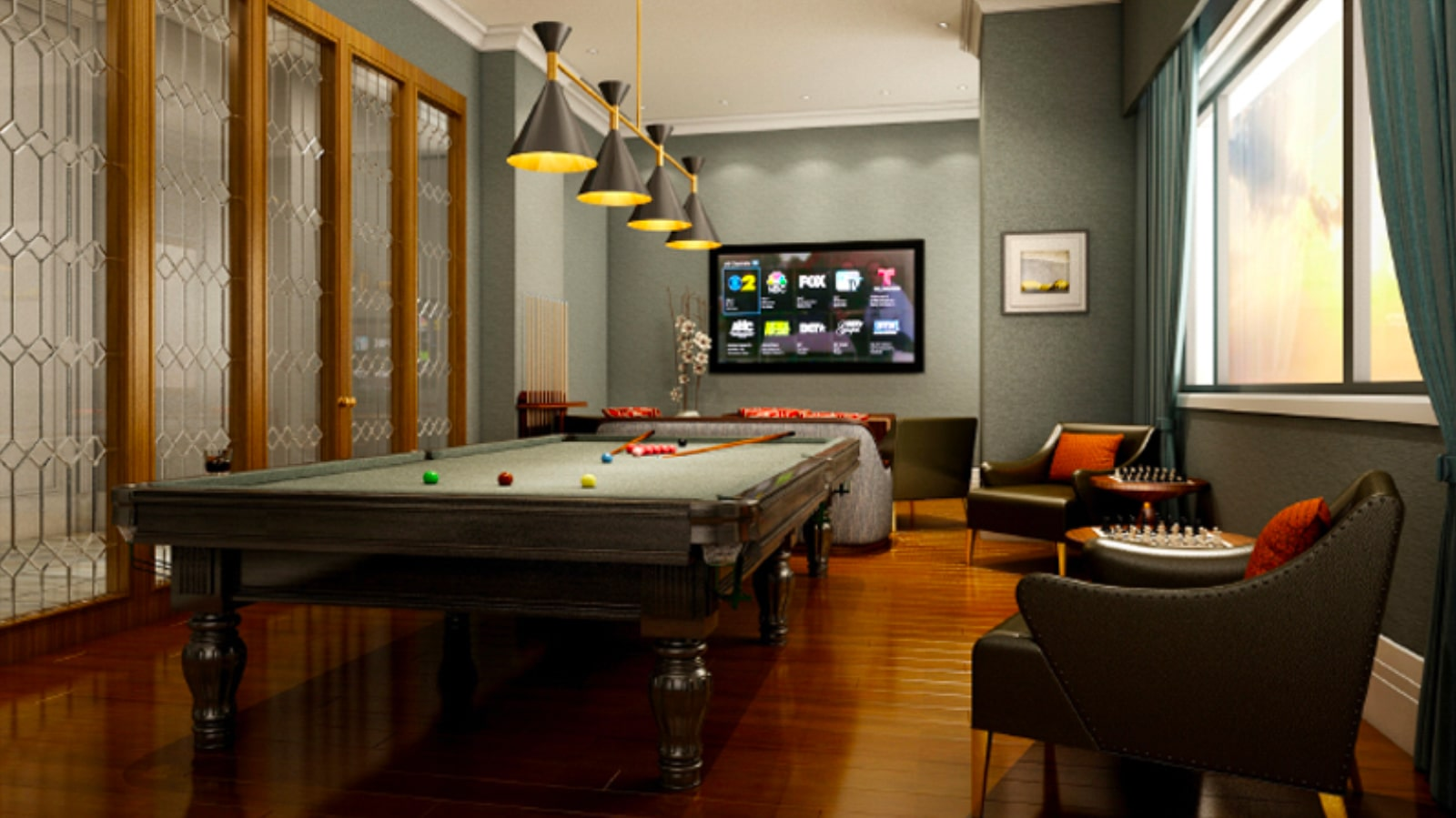 The Peninsula Residences Yangon Game Room